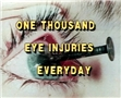One of the 1000 eye injuries that occur every day because they were not trained on eye safety
