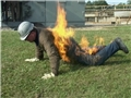 A re-enactment of the injuries Mark Standifer suffered from an arc flash or arc blast incident