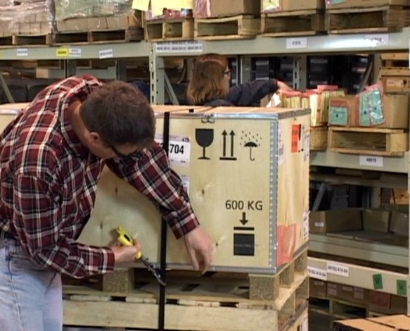 A warehouse worker unaware of potential workplace hazards and put himself in the line of fire