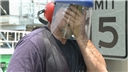 A worker suffering the life-threatening effects of a heat related illness or heat stress