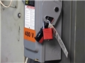 Lockout / Tagout or LOTO procedures being used to reduce the chance of injury from hazardous energy